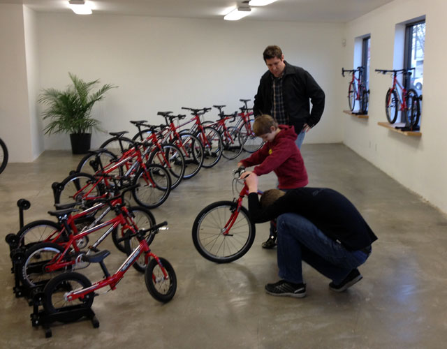 At the Islabikes Fitting Studio