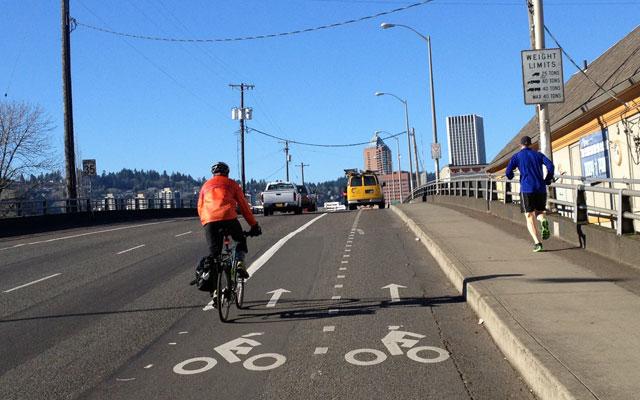 Bike passing lane