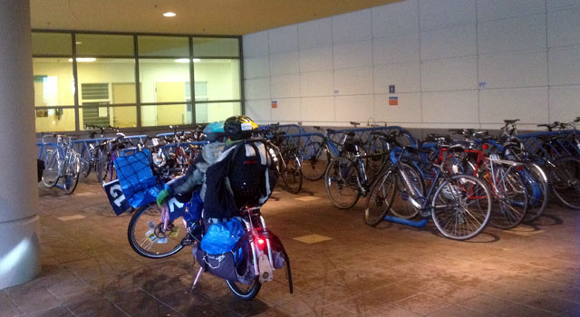 Bike racks at Seattle Children's Hospital