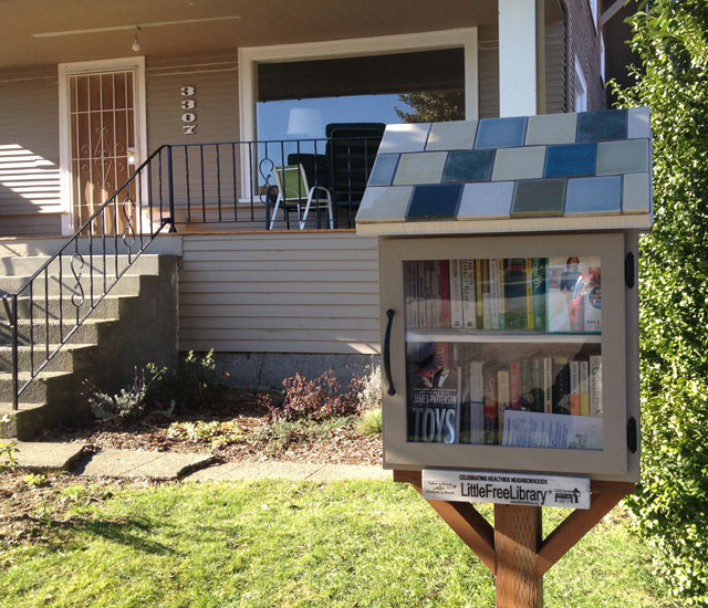 Little Free Library on the Beacon Hill Greenway