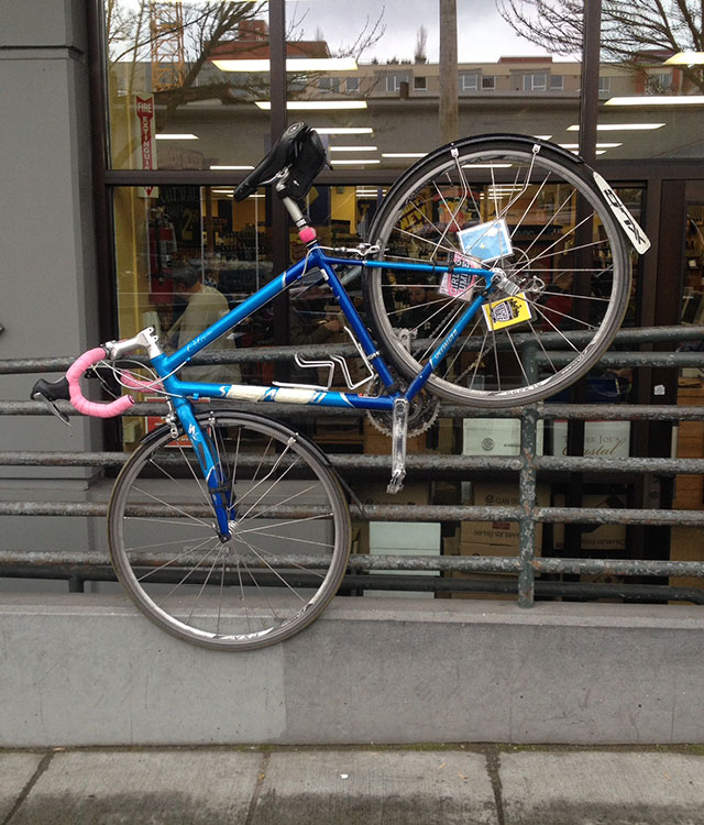 Road bike unencumbered