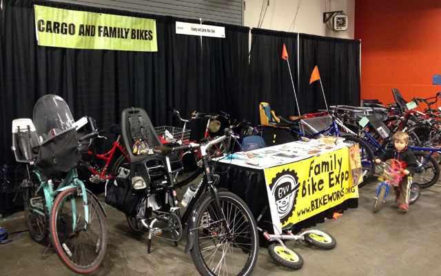 Family bikes at Bike Expo 2013
