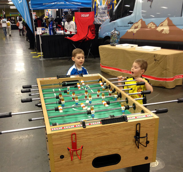 Foosball at Bike Expo 2013