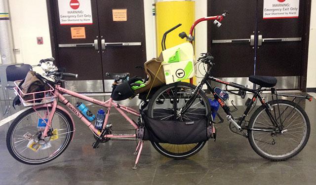 Hauling bikes home from Bike Expo