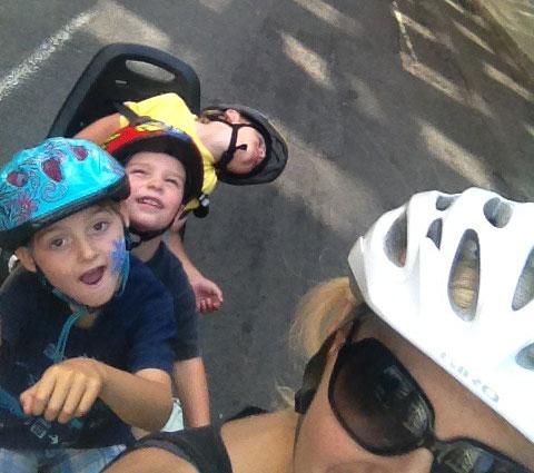 Three kids on my bike at Fiets of Parenthood 2013