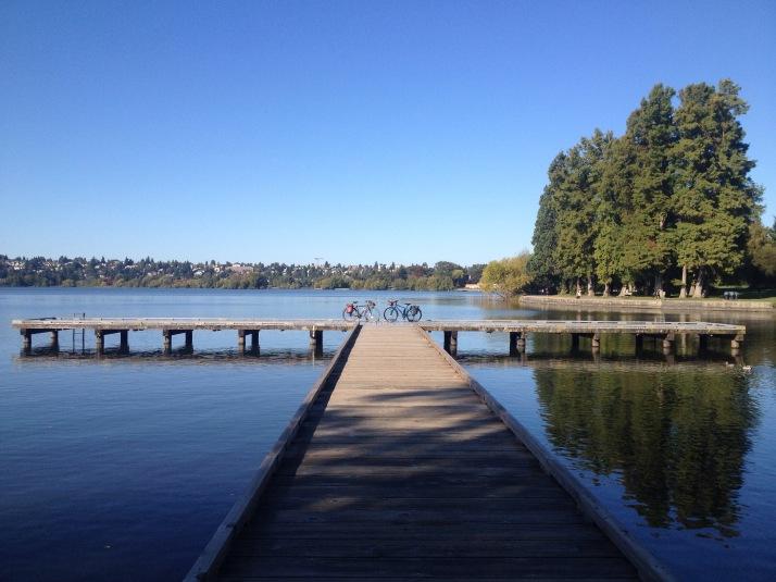 #coffeeoutside on Green Lake last week