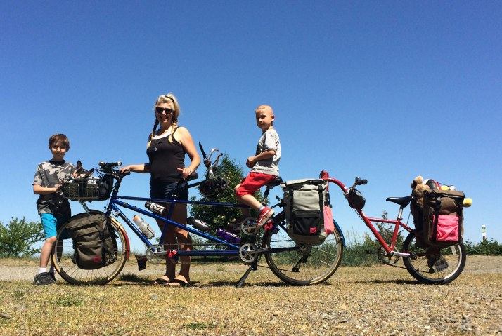 This is family bike camping!