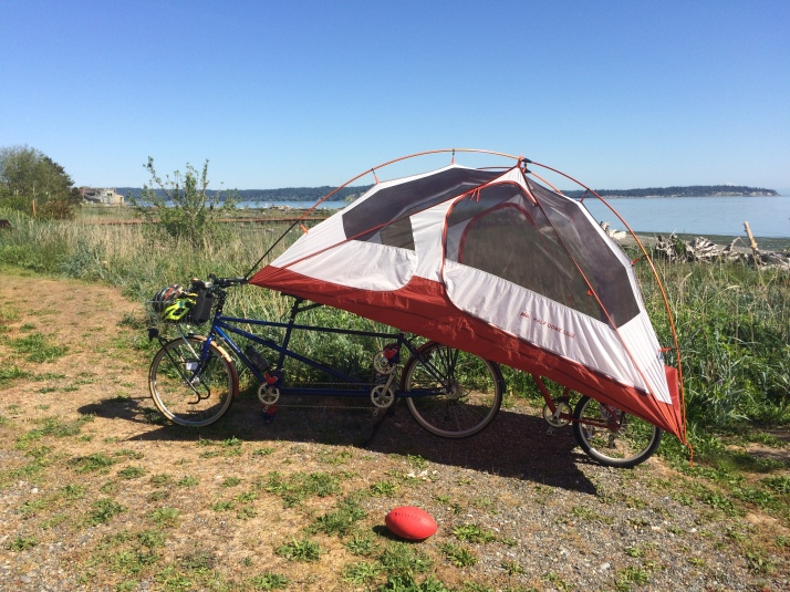 This is not bike camping
