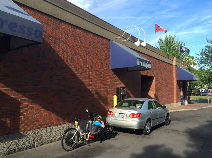 Biking through Burgerville