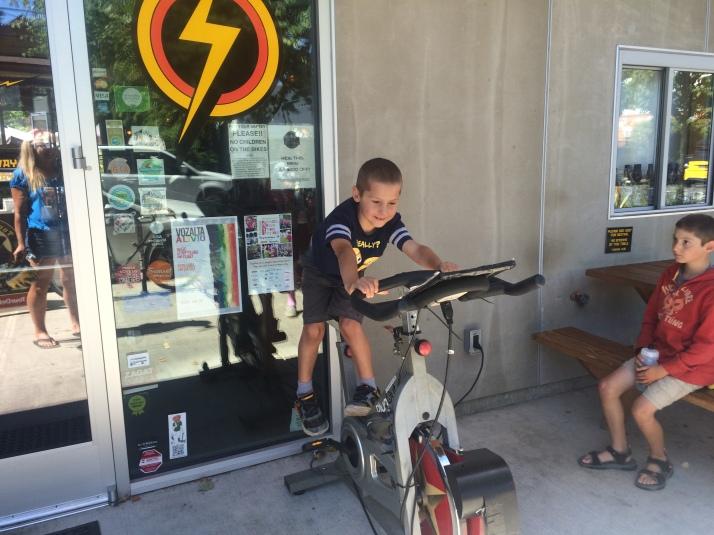 Pedal powering BikeBar
